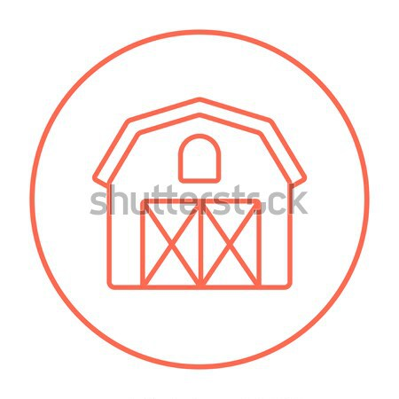 Farm building line icon. Stock photo © RAStudio