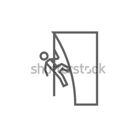 Rock climber line icon. Stock photo © RAStudio
