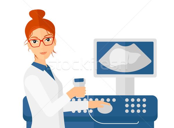 女性 超音波 スペシャリスト ベクトル デザイン ストックフォト © RAStudio