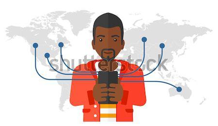 Man lijden maagzuur vector ontwerp illustratie Stockfoto © RAStudio