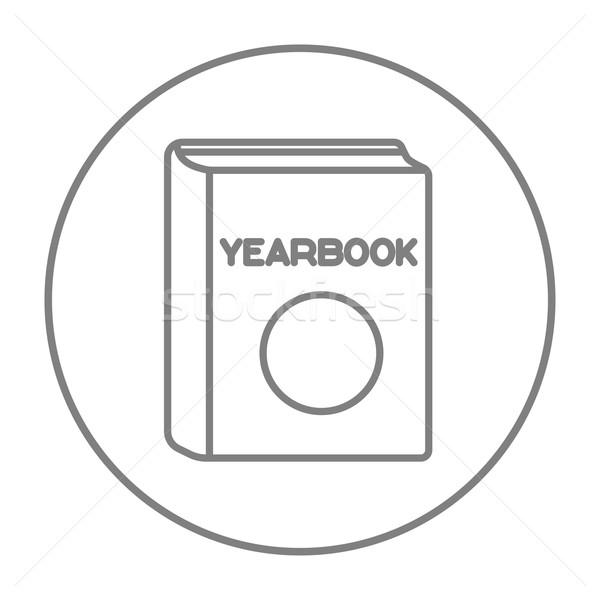 évkönyv vonal ikon háló mobil infografika Stock fotó © RAStudio
