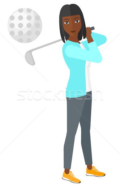 Golfozó labda vektor terv illusztráció izolált Stock fotó © RAStudio