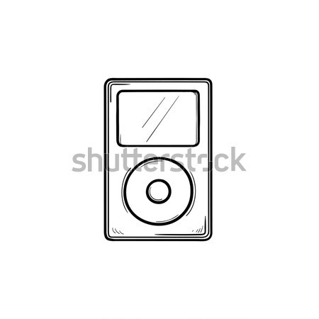 MP3-Player line Symbol Web mobile Infografiken Stock foto © RAStudio