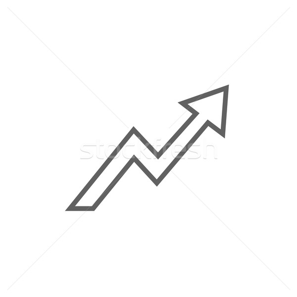 Arrow upward line icon. Stock photo © RAStudio