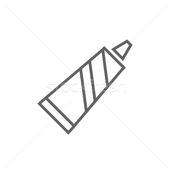 Buis tandpasta lijn icon hoeken web Stockfoto © RAStudio
