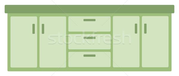 Kitchen cabinet with drawers Stock photo © RAStudio