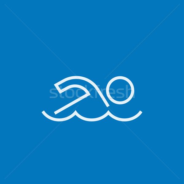 Swimmer line icon. Stock photo © RAStudio