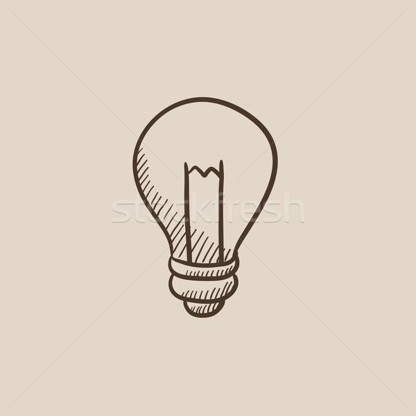 Lightbulb sketch icon. Stock photo © RAStudio