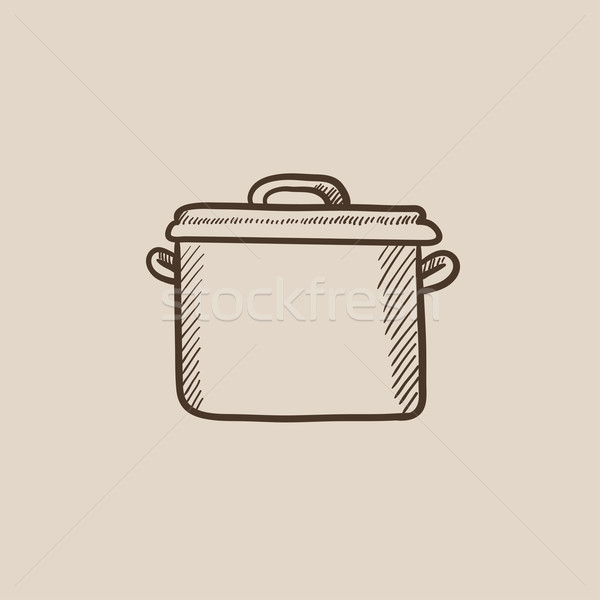 Saucepan sketch icon. Stock photo © RAStudio