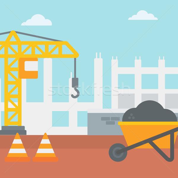 Background of construction site. Stock photo © RAStudio