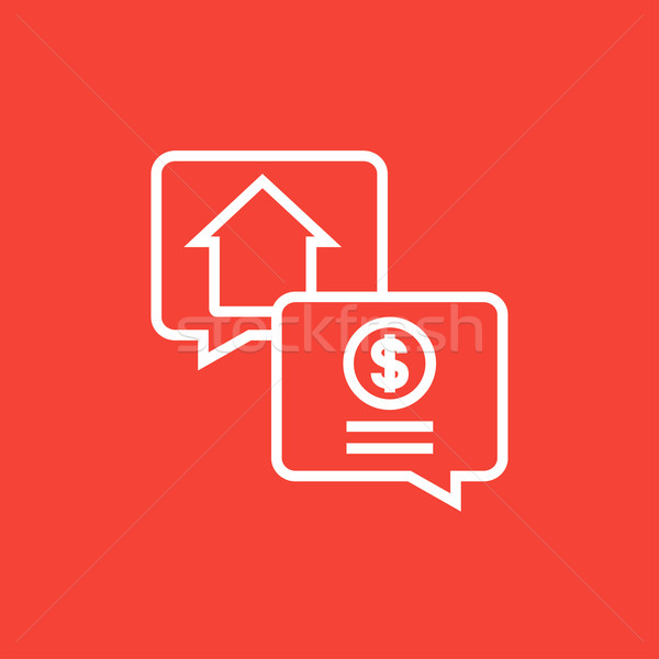 Real estate transaction line icon. Stock photo © RAStudio
