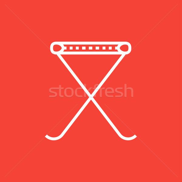 Folding chair line icon. Stock photo © RAStudio