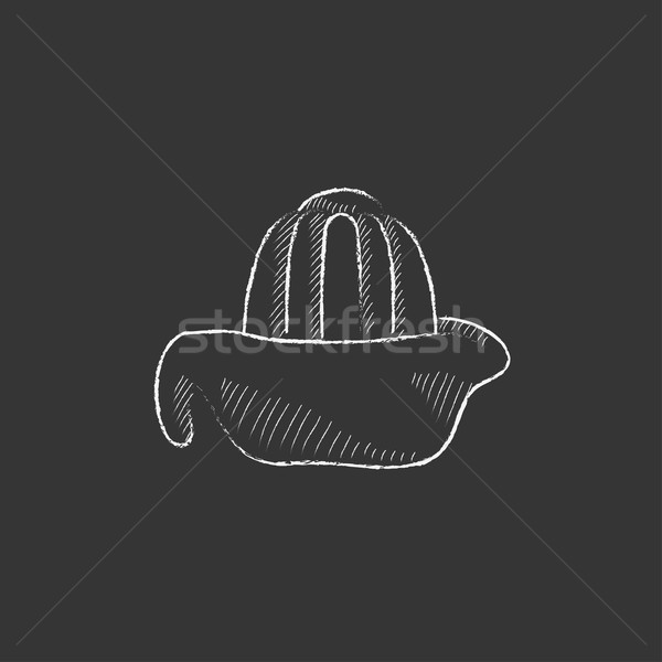 Lemon squeezer. Drawn in chalk icon. Stock photo © RAStudio