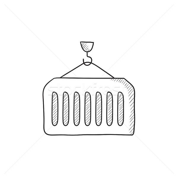 Cargo container sketch icon. Stock photo © RAStudio