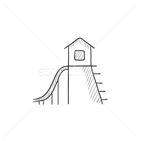слайдов эскиз икона вектора изолированный рисованной Сток-фото © RAStudio