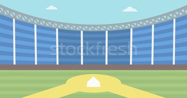 Baseball stadion baseball pálya vektor terv illusztráció Stock fotó © RAStudio