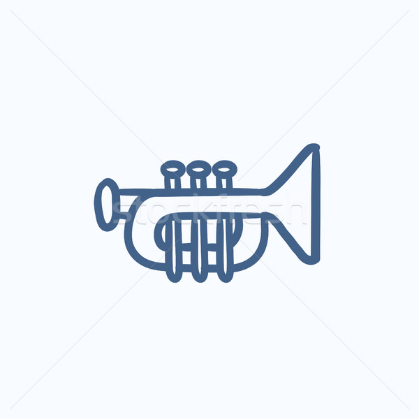 Trumpet sketch icon. Stock photo © RAStudio