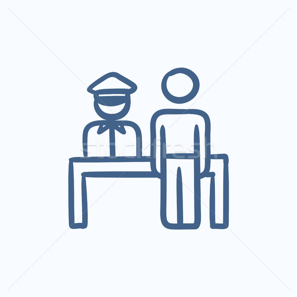 Airport security  sketch icon. Stock photo © RAStudio