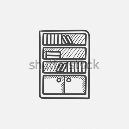 Bookcase sketch icon. Stock photo © RAStudio