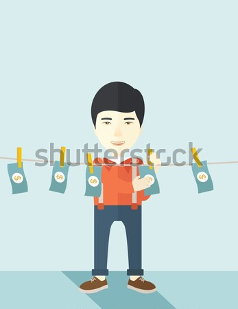 Man in money laundering business Stock photo © RAStudio