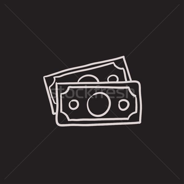 Money banknotes sketch icon. Stock photo © RAStudio