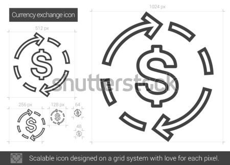 Valuta scambio line icona vettore isolato Foto d'archivio © RAStudio