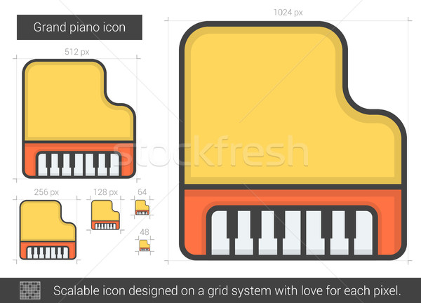 Grand piano line icon. Stock photo © RAStudio