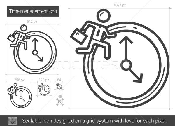 Time managment line icon. Stock photo © RAStudio