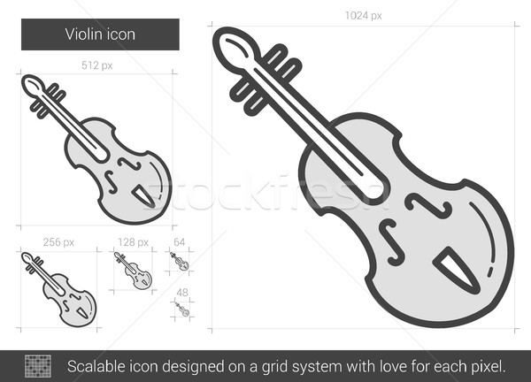 Violin line icon. Stock photo © RAStudio