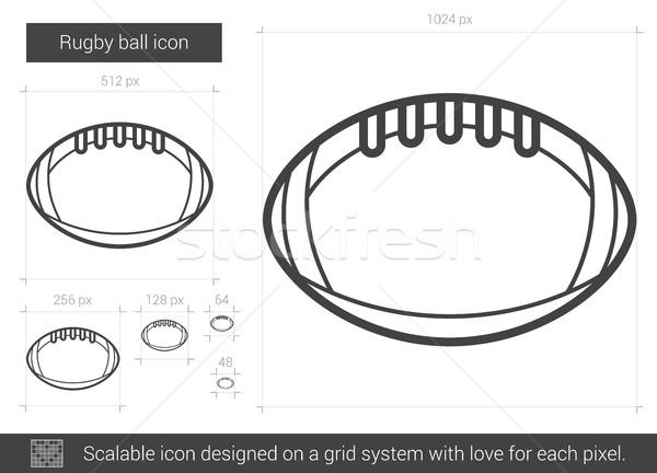 Rugby ball line icon. Stock photo © RAStudio
