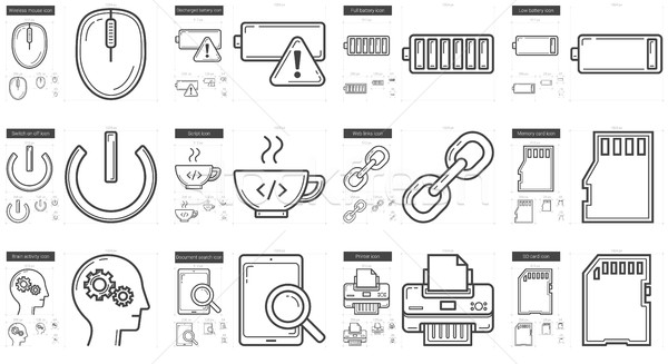 Technology line icon set. Stock photo © RAStudio