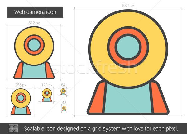 ウェブ カメラ 行 アイコン ベクトル 孤立した ストックフォト © RAStudio