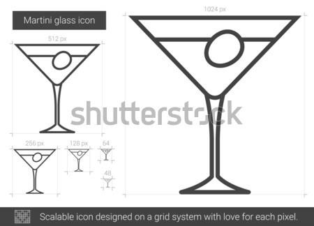 Martini línea icono vector aislado blanco Foto stock © RAStudio