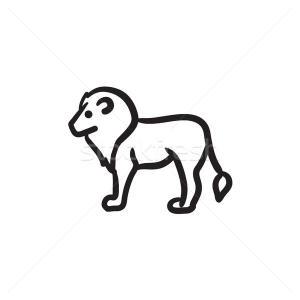 Lion sketch icon. Stock photo © RAStudio