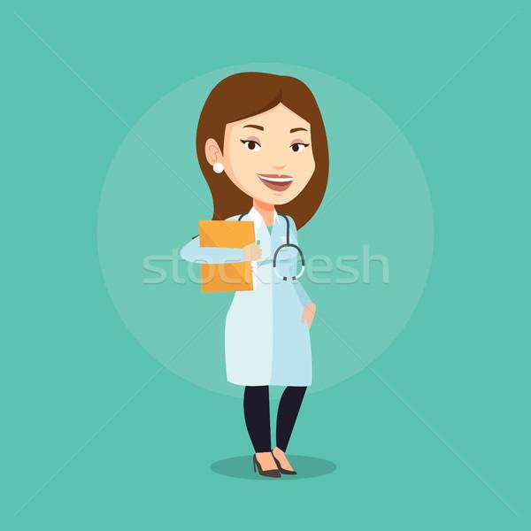 商业照片 / 矢量图: 医生 · 文件 · 医生 · 办公室 · 听筒