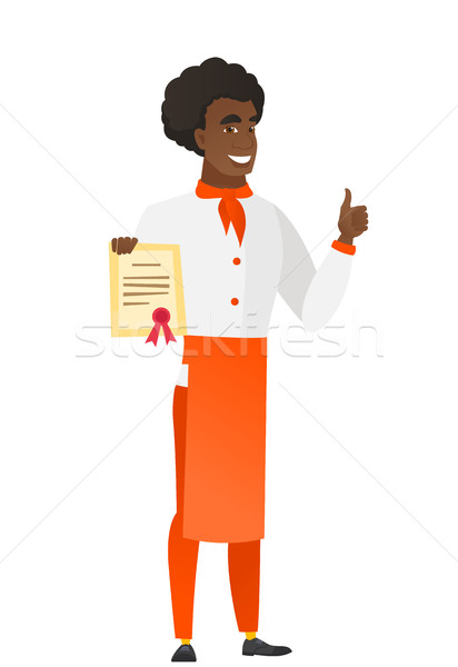 Chef Cook certificat africaine Photo stock © RAStudio