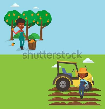 Rolniczy banner przestrzeni tekst wektora projektu Zdjęcia stock © RAStudio