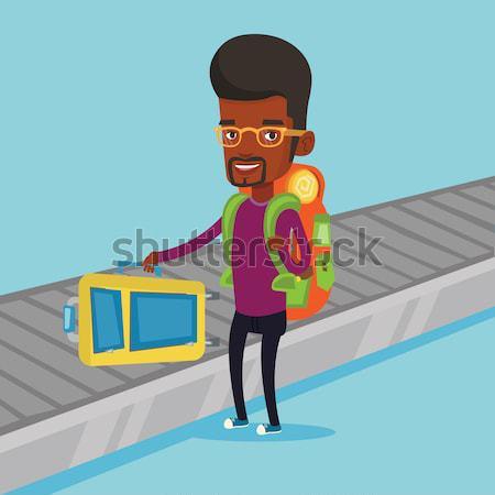 деловой человек железнодорожная станция молодые ходьбе поезд Сток-фото © RAStudio