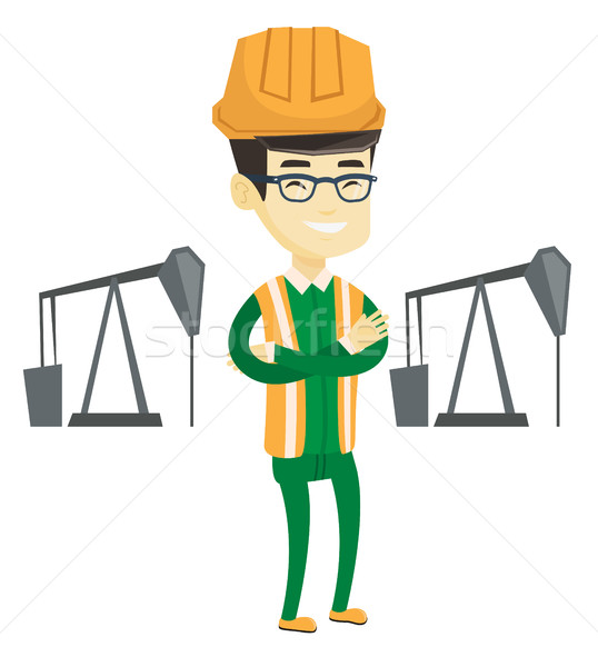 Confident oil worker vector illustration. Stock photo © RAStudio