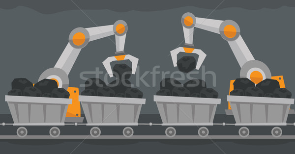 The use of robotic technology in mine industry. Stock photo © RAStudio