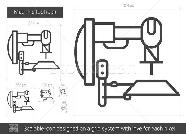 Foto stock: Máquina · herramienta · línea · icono · vector · aislado