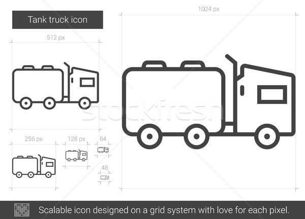 Tank kamyon hat ikon vektör yalıtılmış Stok fotoğraf © RAStudio