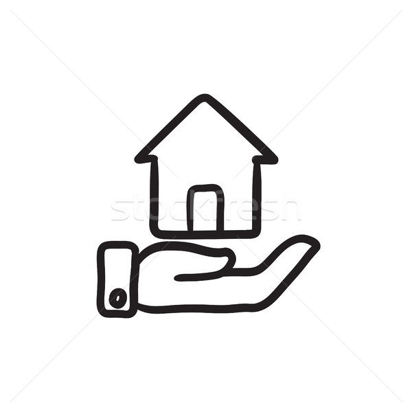 House insurance sketch icon. Stock photo © RAStudio