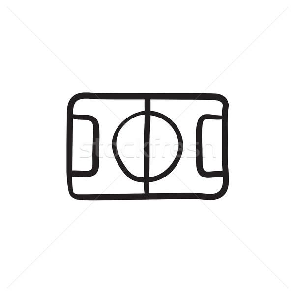 Stadion elrendezés rajz ikon vektor izolált Stock fotó © RAStudio