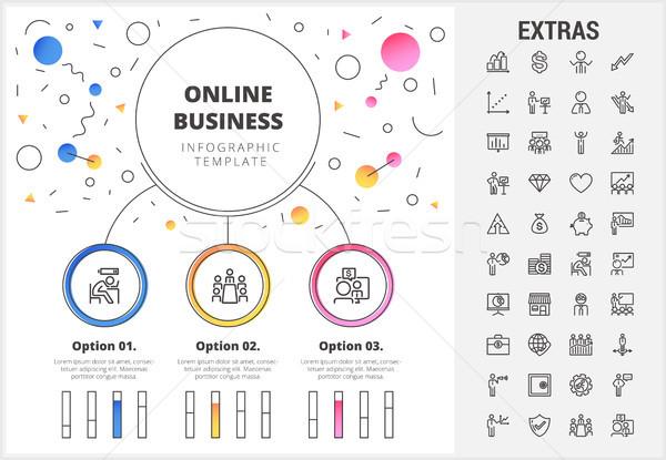 Сток-фото: онлайн · бизнеса · шаблон · Элементы · круга