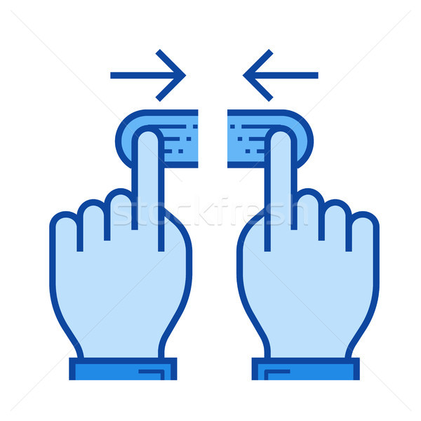 Two hand unpinch line icon. Stock photo © RAStudio