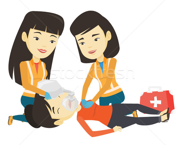 Paramedics doing cardiopulmonary resuscitation. Stock photo © RAStudio