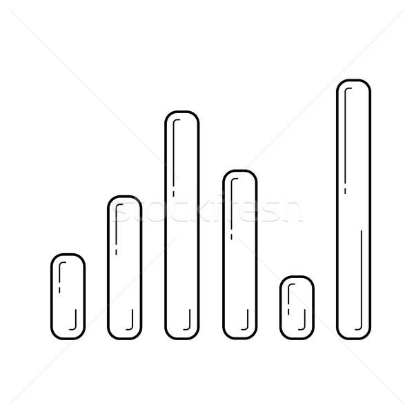 Stock fotó: Hang · szint · vonal · ikon · vektor · izolált
