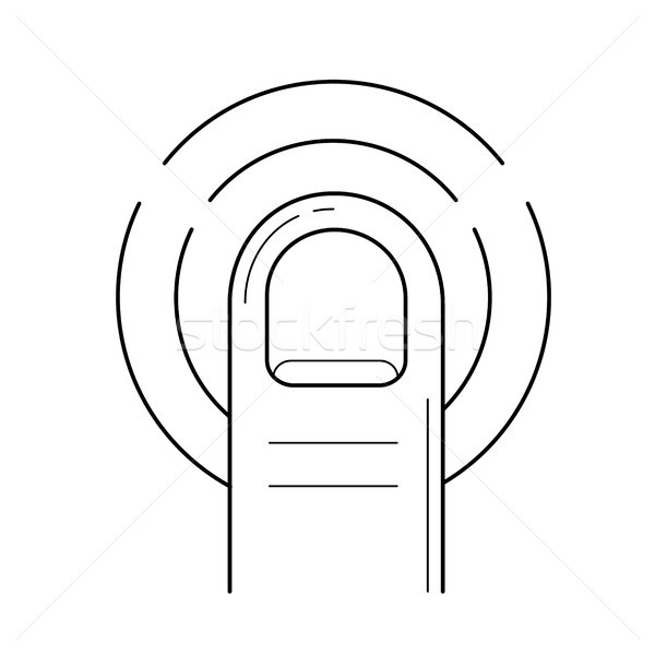 Verdubbelen tik lijn icon vector geïsoleerd Stockfoto © RAStudio