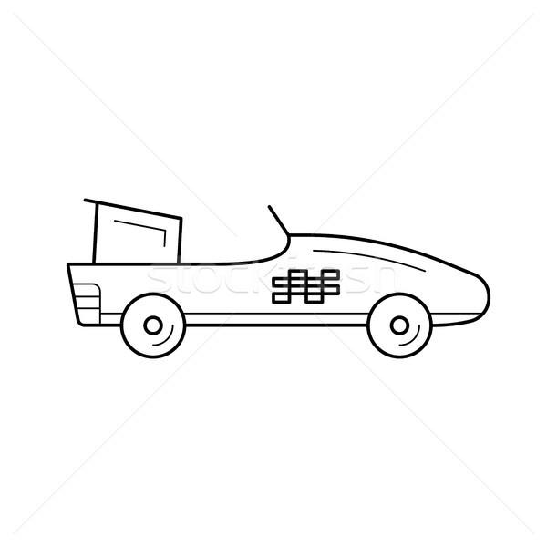 Fórmula um carro linha ícone vetor isolado Foto stock © RAStudio